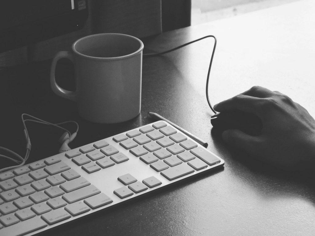 bureau, clavier, espace de travail